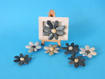 Flowers made from natural stones Royalty Free Stock Images