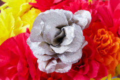 The flowers made of paper stock image