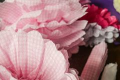 Flowers made of paper corrugating royalty free stock photo