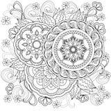 Flowers-mandalas-b10 Стоковые Изображения