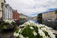 Alesund city in Norway Stock Images