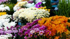 Flowers in the market stock photos