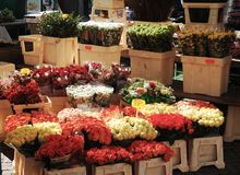 Flowers Market Royalty Free Stock Photography