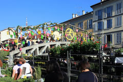 Flowers market, Milano Royalty Free Stock Photos