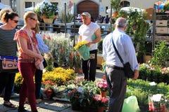 Flowers market, Milano Royalty Free Stock Image