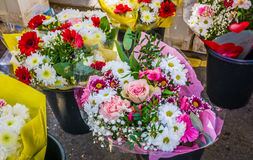 Flowers on market. Flowers on a market stall stock photos