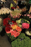 Flowers at a market Royalty Free Stock Image