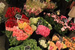 Flowers at a market Stock Images