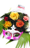 Flowers and mask Royalty Free Stock Image