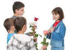 Are these flowers really for me? Stock Photo
