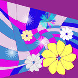 Flowers on the mosaic. Flowers bright carpet cover mosaic Royalty Free Stock Photography