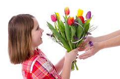 Flowers for mother Stock Photography