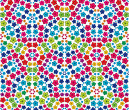 Flowers. Multicolor flowers seamless pattern vector background Stock Photo