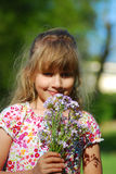 Flowers for mummy Royalty Free Stock Image