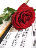 Flowers and music Royalty Free Stock Images