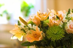 Flowers for my wife Royalty Free Stock Photo