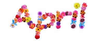 Flowers Name April royalty free illustration