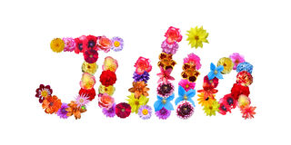 Flowers Name Julia Stock Photos