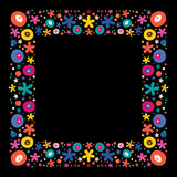 Flowers nature frame border Royalty Free Stock Photography