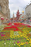 Flowers near Red Square, Moscow Stock Photo