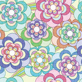 Flowers Net Pattern_eps Stock Image