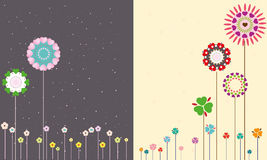 Flowers of the night and day. Royalty Free Stock Images