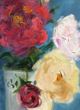 Flowers oil painting Royalty Free Stock Images