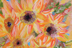 Flowers Oil painting fragment Stock Photography