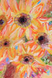 Flowers Oil painting fragment Stock Images