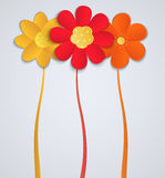 Flowers On A White Background. Paper Flower Decora Stock Photography