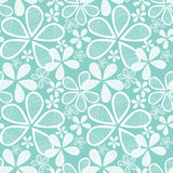 Flowers On Blue Seamless Background Stock Photography