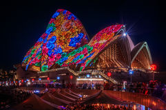 Flowers on the Opera House -Vivid Sydney, Australia Stock Image