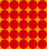 Flowers on an orange background. Red roses on an orange background Royalty Free Stock Photos