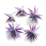 Flowers origami banknotes Stock Images