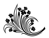 Flowers ornament. Vector illustration. Royalty Free Stock Photo