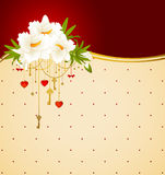 Flowers and ornaments. Royalty Free Stock Photo