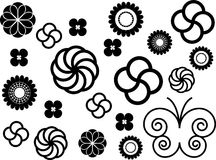 Flowers ornaments. Some flowers and ornaments and one butterfly vector illustration Stock Photos
