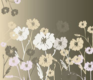 Flowers ornaments background. Texture in different colors. Vector Stock Photography
