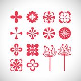 Flowers ornaments  illustration Stock Photography