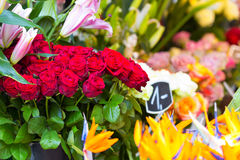 Flowers in outdoor shop Royalty Free Stock Photo