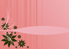 Flowers over pink background Royalty Free Stock Images
