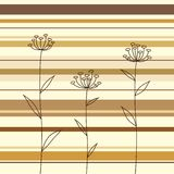 Flowers over the striped background Royalty Free Stock Image