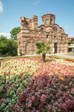 Flowers and paint ancient Nessebar in Bulgaria Royalty Free Stock Photo