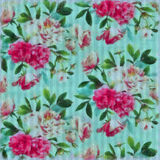 Flowers painted on fabric with watercolours Stock Photography