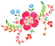 Flowers painted in watercolor Stock Photo