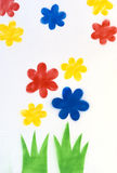 Flowers painting background, illustration Stock Photos