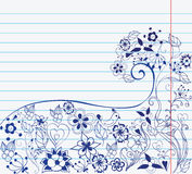 Flowers on paper Stock Photo
