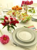 Flowers on party table Royalty Free Stock Photo
