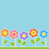 Flowers in patchwork style Royalty Free Stock Photos