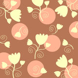 Flowers pattern. In pastel colors Royalty Free Stock Photography